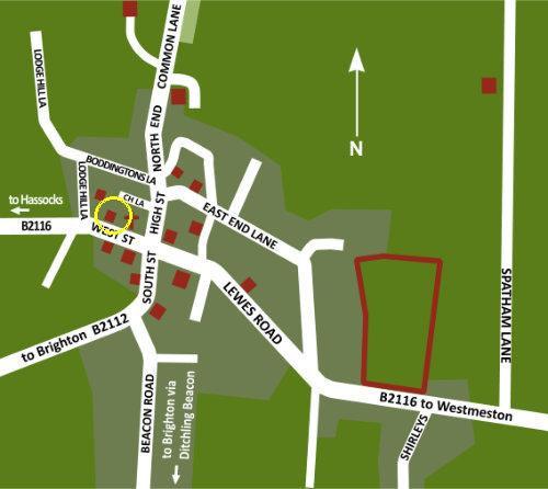 Ditchling Map