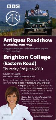 Antiques Roadshow coming to Brighton