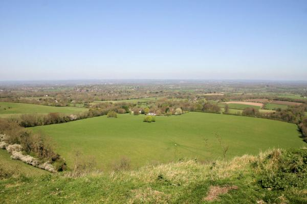 View from the South Downs near Ditchling..